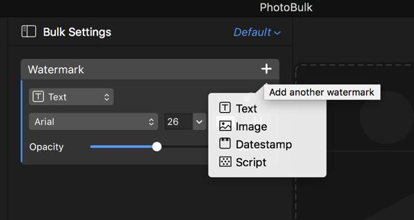PhotoBulk add another watermark