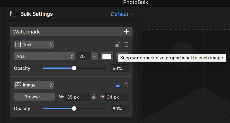 PhotoBulk scale watermark
