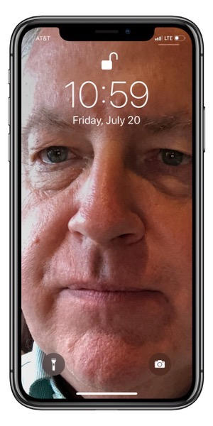 Chuck s face on my phone