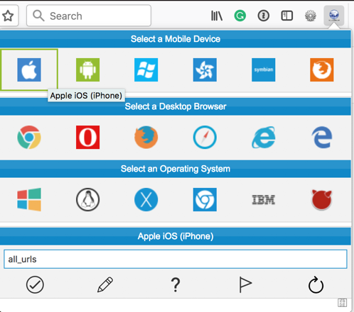 Firefox user agent extension
