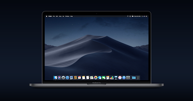 Mojave running on a Mac