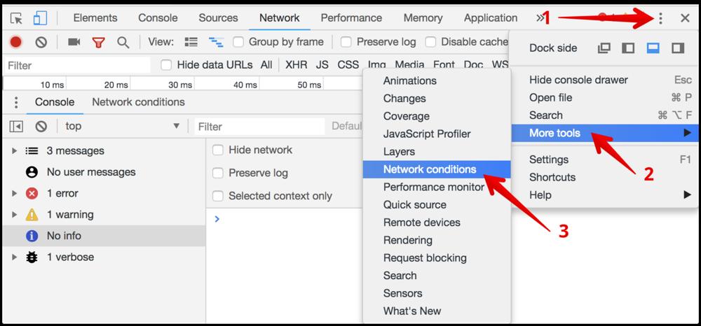 Chrome network monitor tool