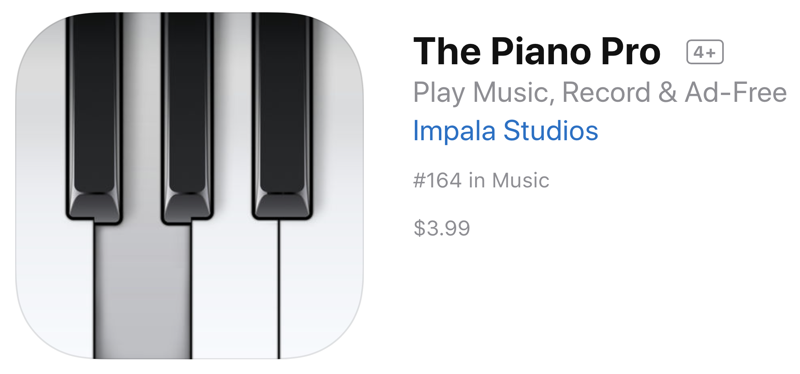 The Piano Pro on the AppStore
