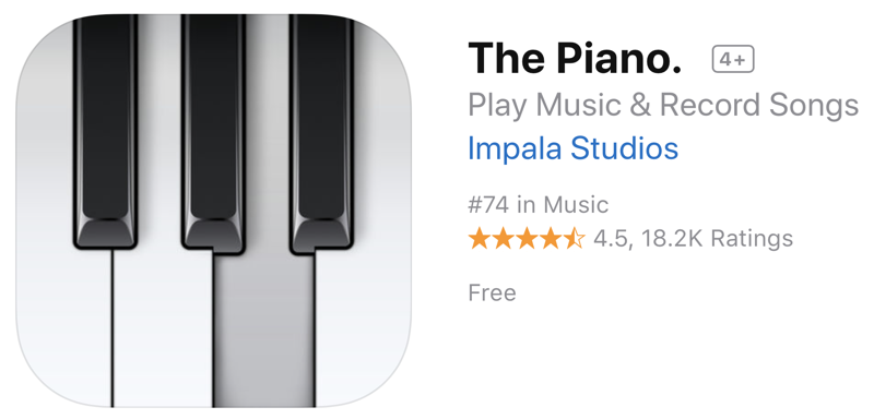 The Piano on the AppStore