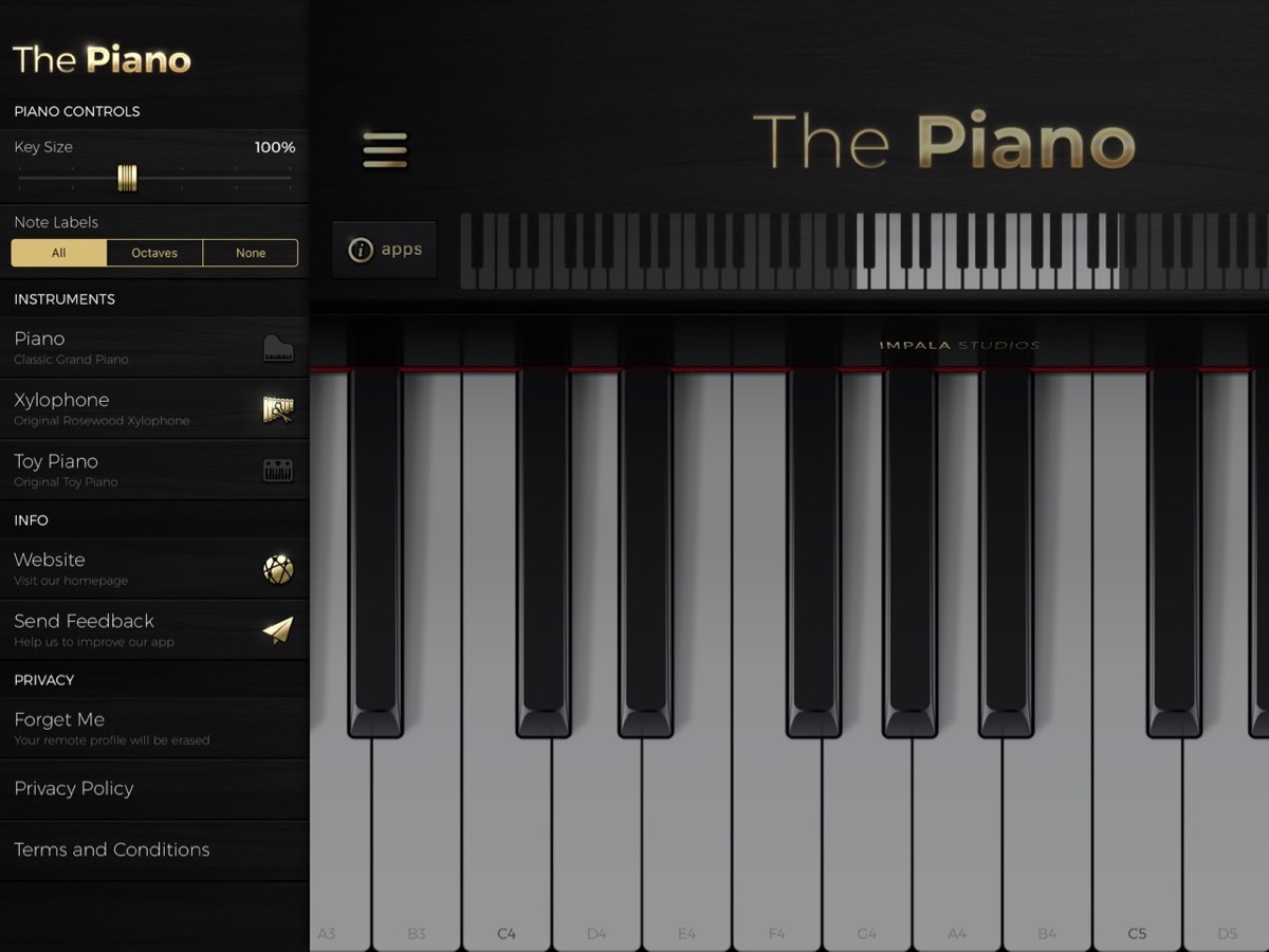 The Piano Interface