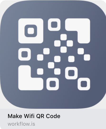 Make WiFi qr code in workflow