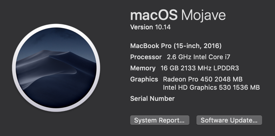 mojave on about this mac