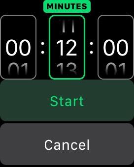Timer set to 12 min