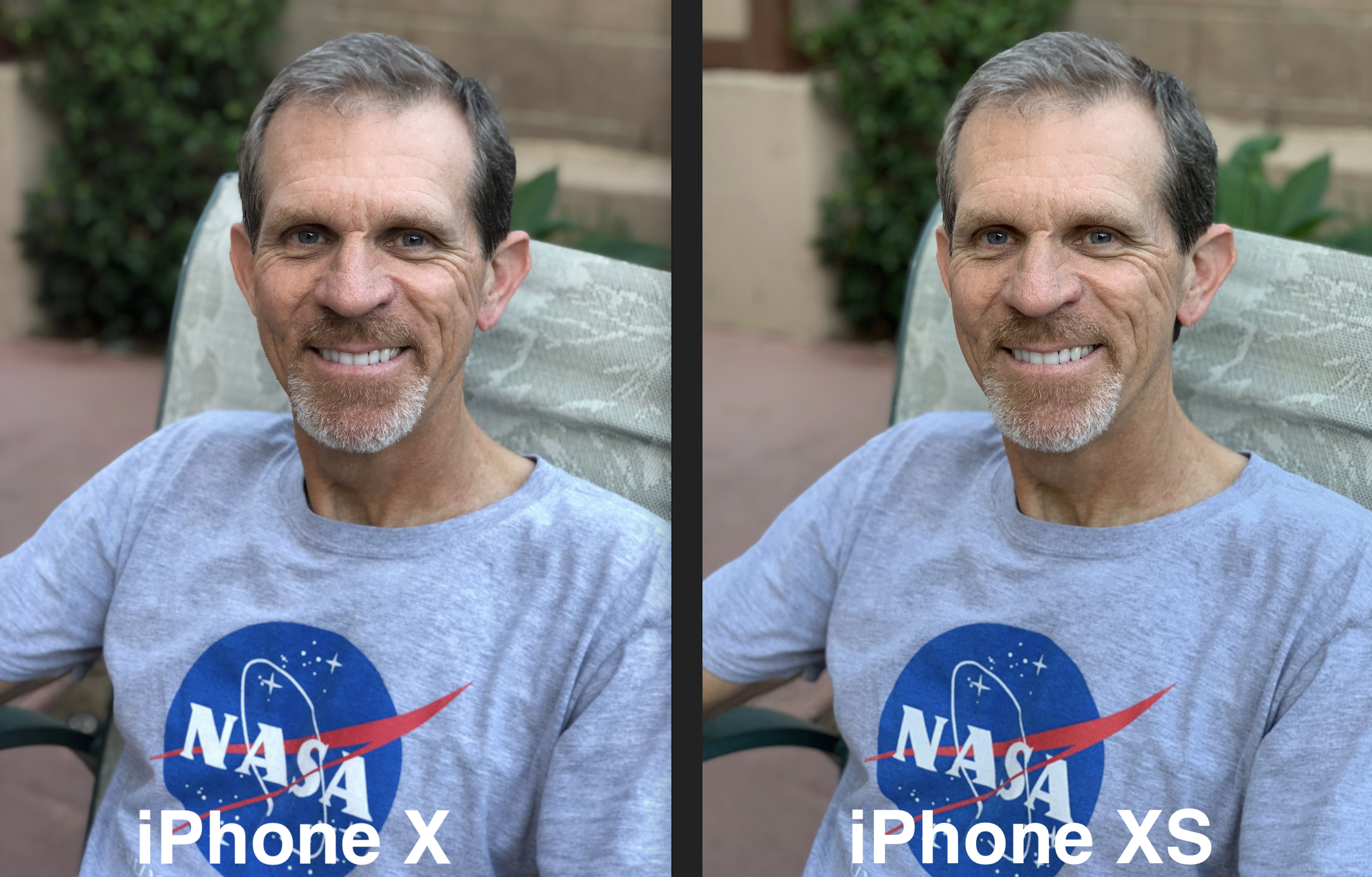 IPhone X vs XS Steve portrait 2600 72