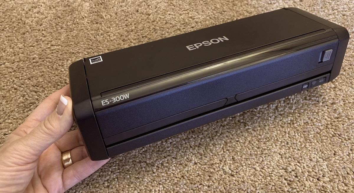 Epson ES 300W folded up