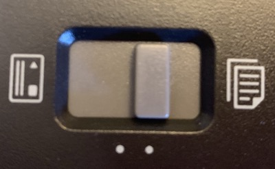 Epson ES 300W mysterious business card toggle
