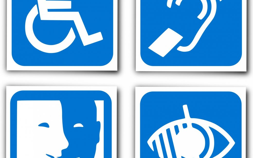 accessibility logo wheelchair blind deaf mute