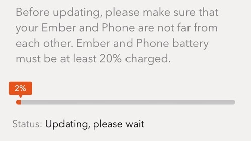 Ember mug firmware update