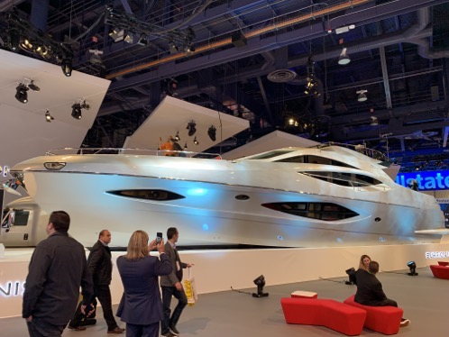 65 foot yacht at CES