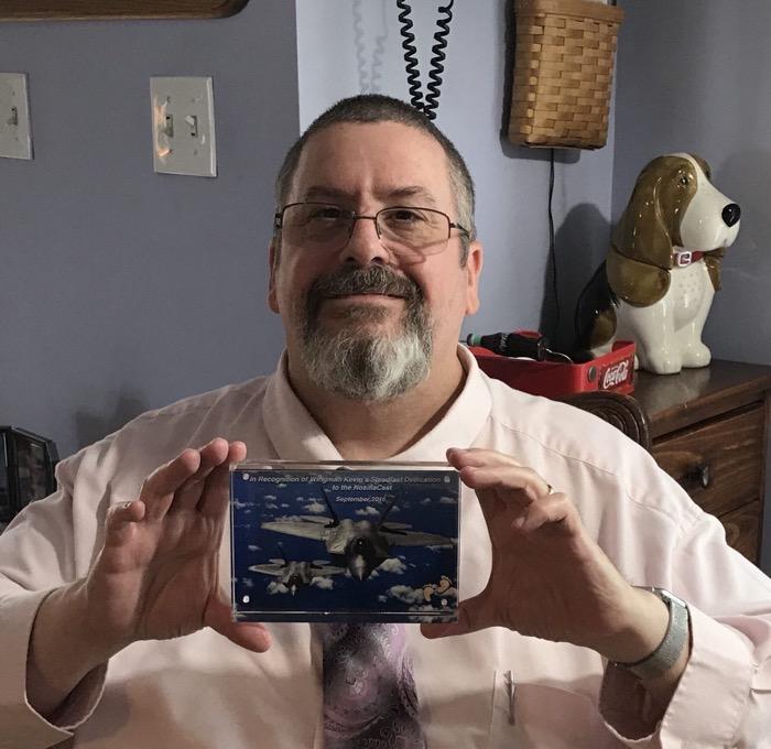 Kevin wingman plaque no longer big