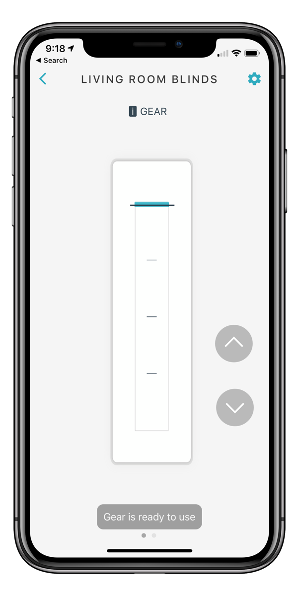 Gear slider on iOS