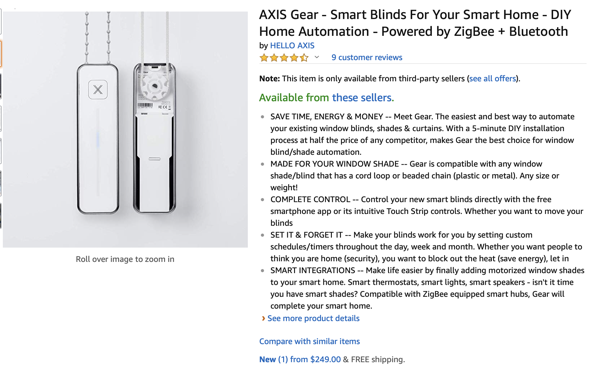 Hands On With Gear Axis Smart Shade Controller Podfeet