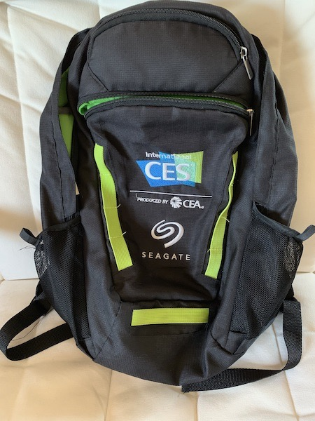 CES Seagate backpack