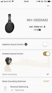 Sony Headphones management app for iOS