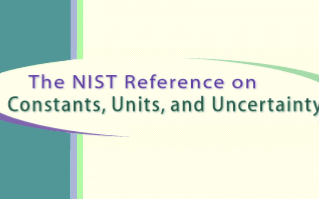 NIST Reference on Constants Units and Uncertainty logo