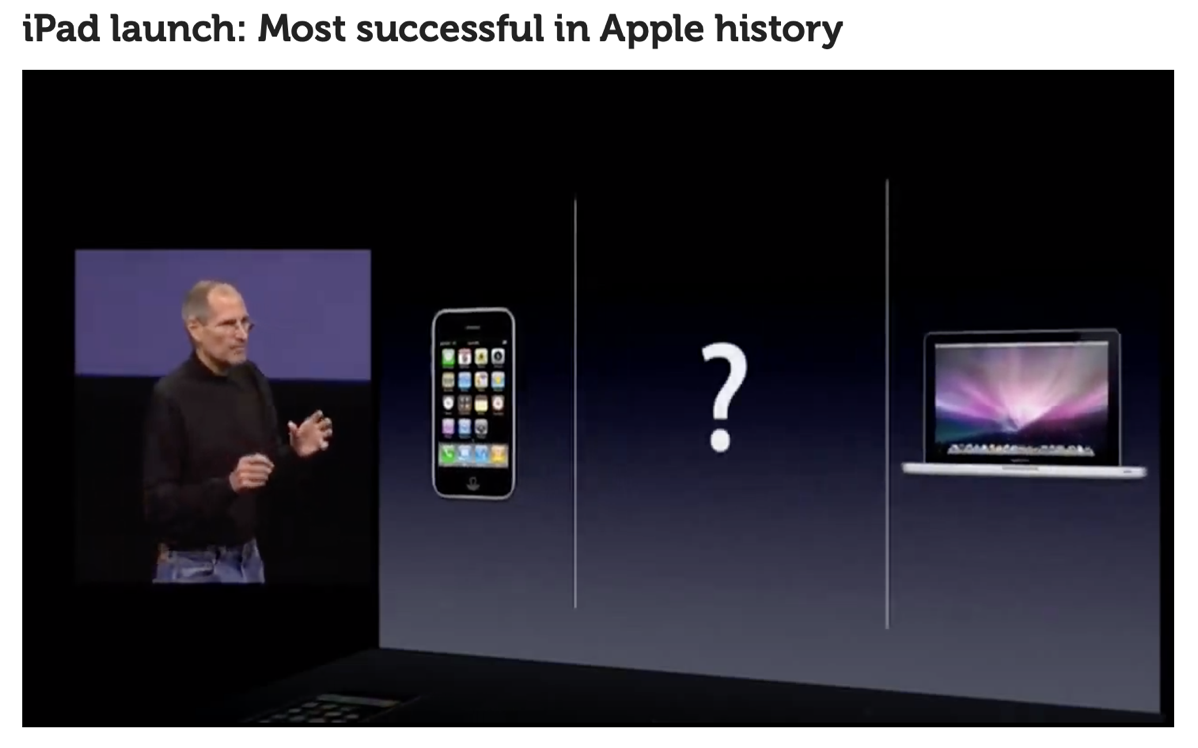 Steve Jobs asks room for something between laptop and phone