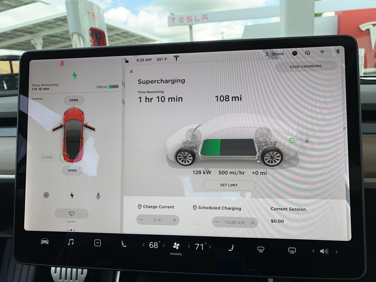 Supercharger 500 mi per hr