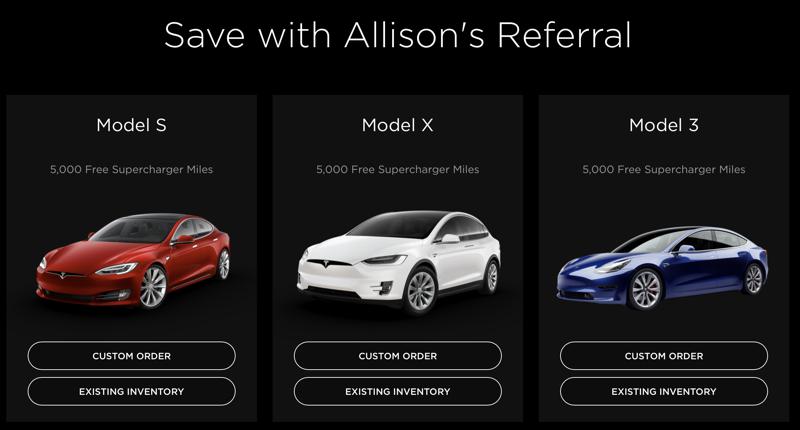 Tesla referral Allison