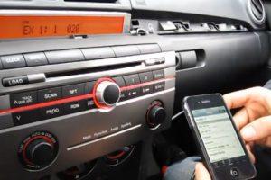 Car stereo in dash