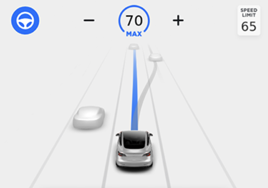 Model 3 in Navigate on Autopilot mode