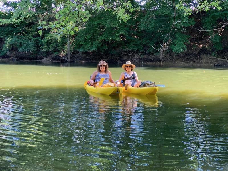 Dori Allison kayaks