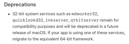 Inkserver deprecated in future OS versions