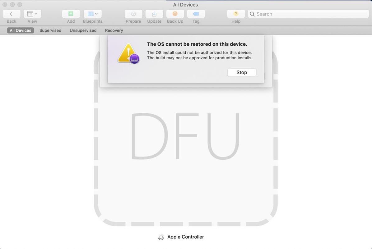 Mac mini won t dfu