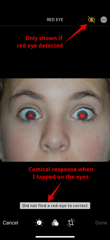Red eye example