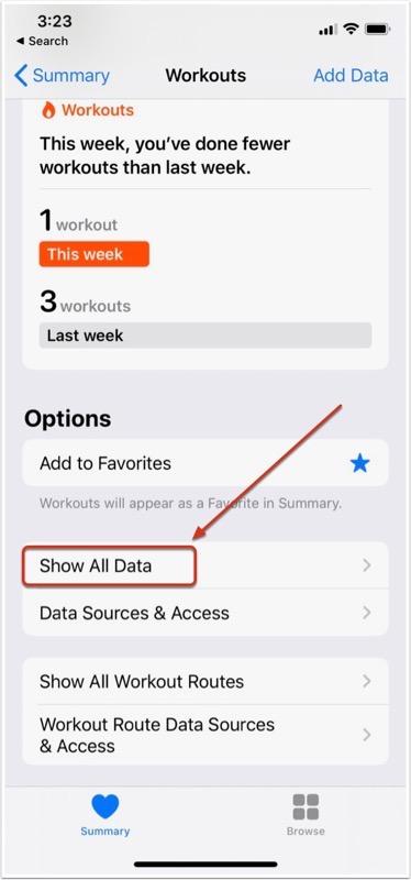 Show All Data, Swipe to Delete