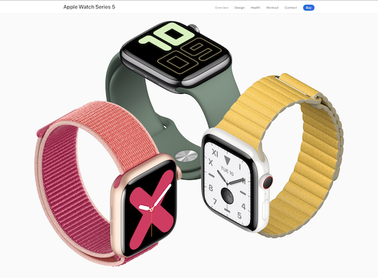 Apple Watch Series 5 at Apple