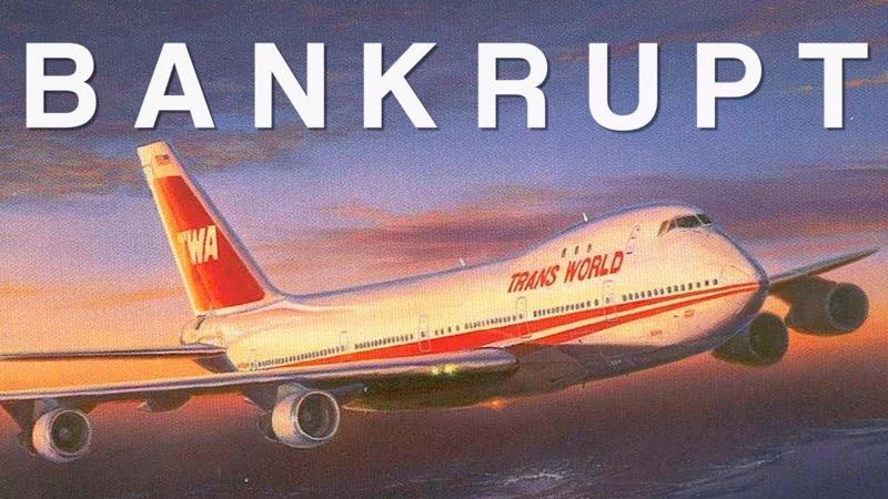 TWA plane with Bankrupt on image