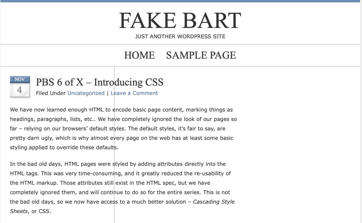 Fake bart