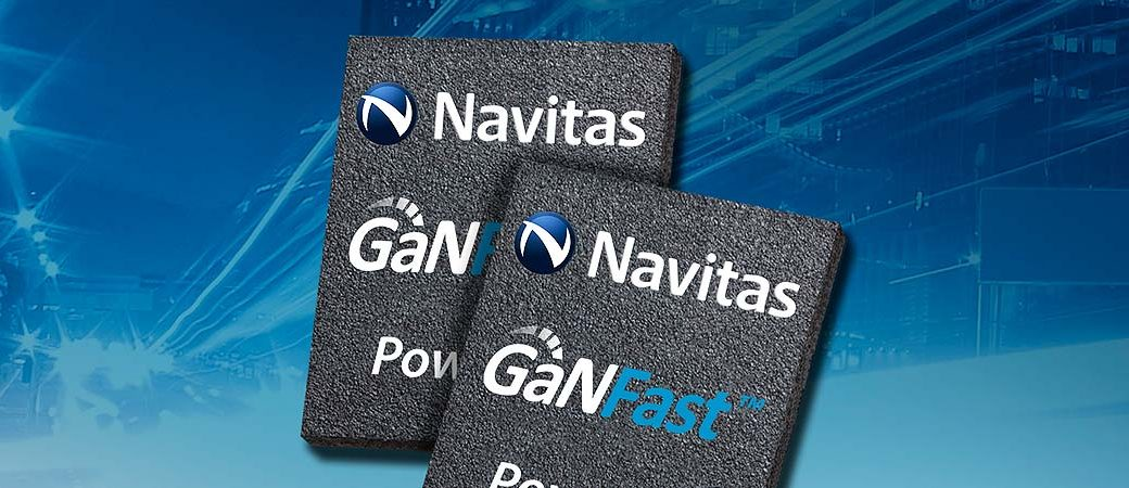 Navitas GaNFast Logo printed on two semiconductors chips