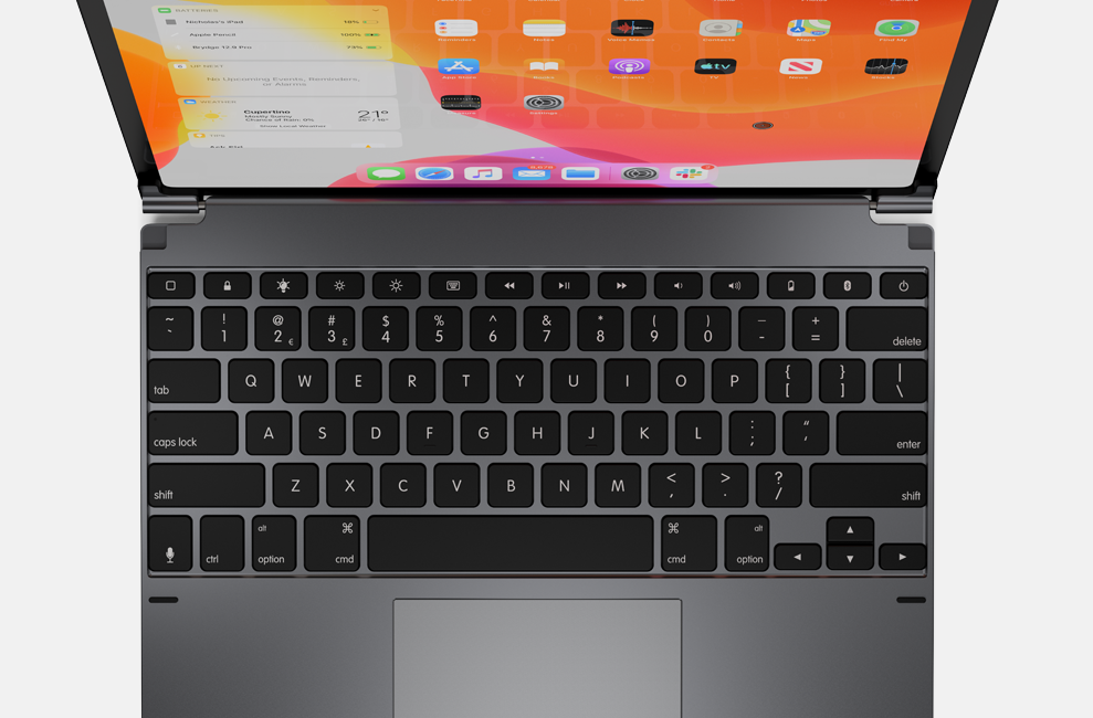 Brydge Pro+ Keyboard Attached to iPad Pro
