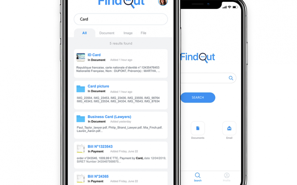 FindOut App on iPhone