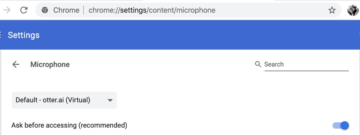 08 Chrome mic settings