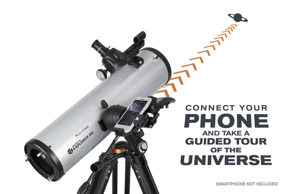 Celestron Reflector Telescope with Smart Phone App for Viewing Guidance
