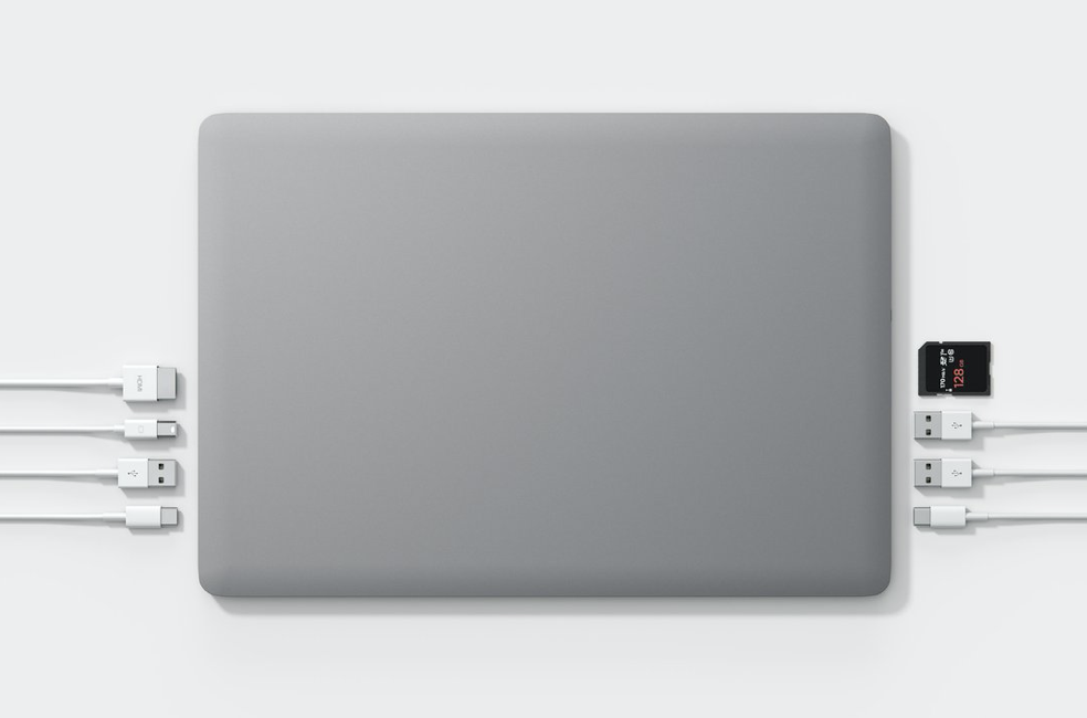 Top View of Linedock Dock for MacBook Pro