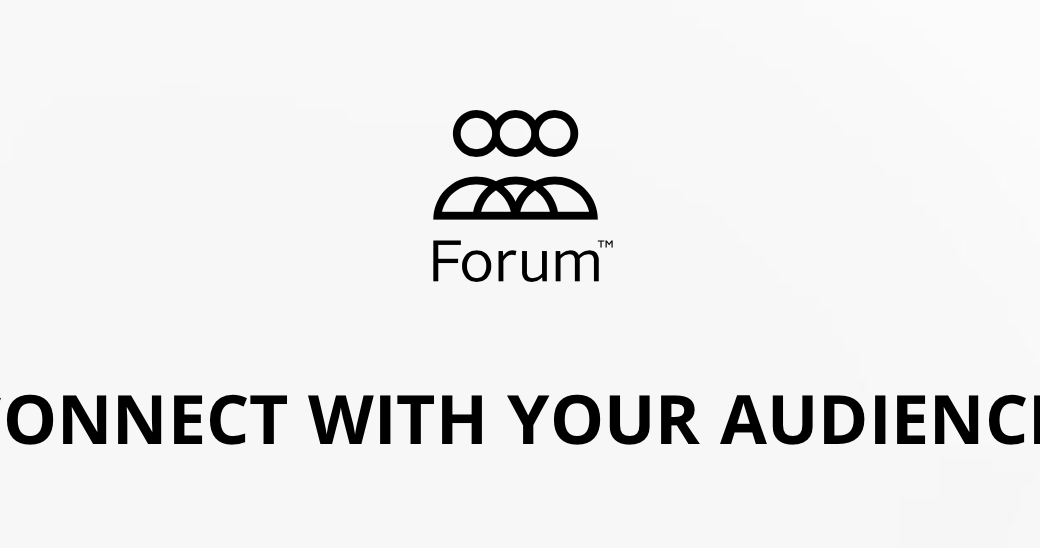 Fasetto Forum Logo: Connect With Your Audience
