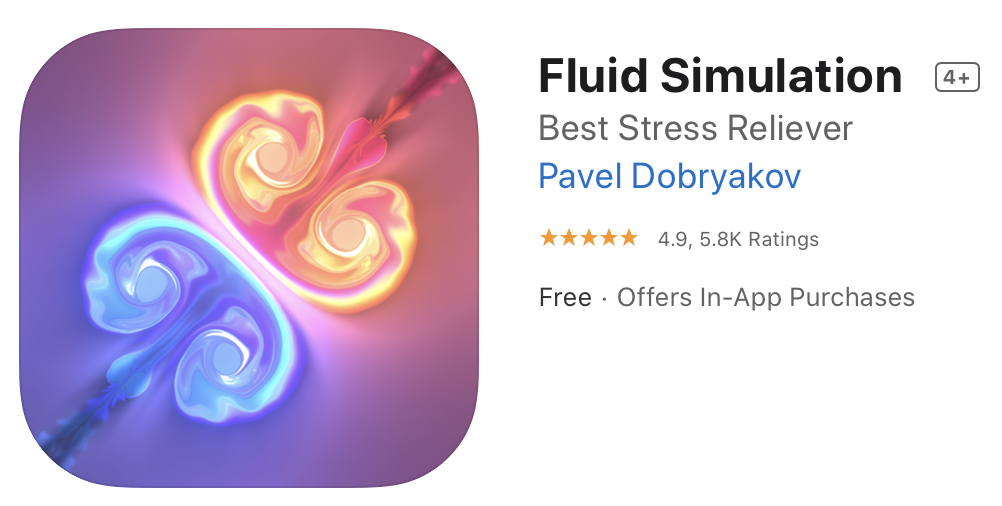 Fluid Simulation Logo on Mac App Store