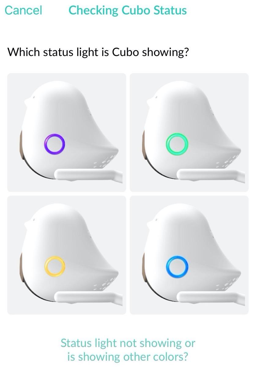 Cubo Status Lights