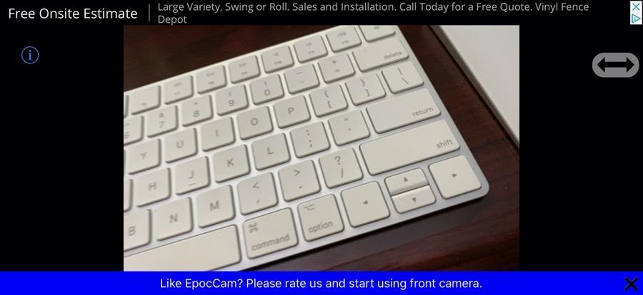 epocCam insterstial ads