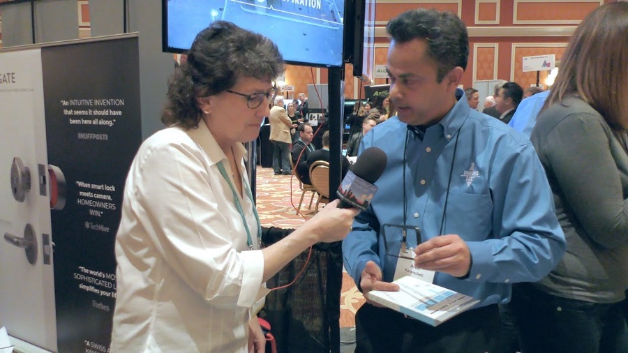 Allison with Arun from Diamond Dog at CES 2020