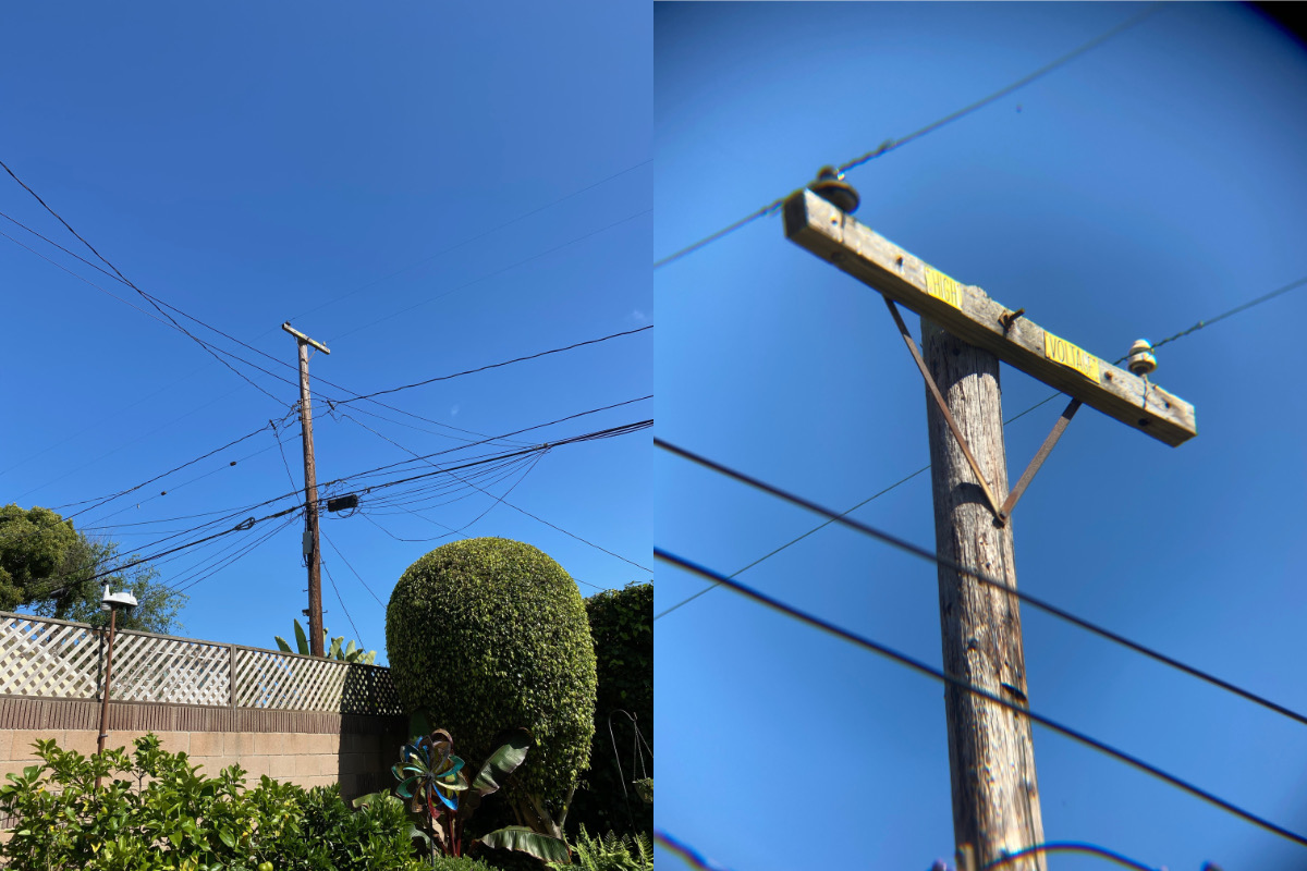 High voltage without and with telephoto