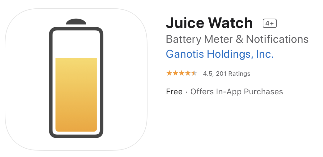 Juice Watch Logo in App Store